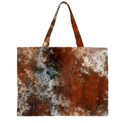 Marbled Structure 4c Zipper Large Tote Bag by MoreColorsinLife