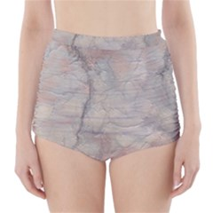 Marbled Structure 5a High Waisted Bikini Bottoms