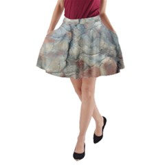 Marbled Structure 5a2 A Line Pocket Skirt by MoreColorsinLife