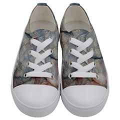 Marbled Structure 5a2 Kids  Low Top Canvas Sneakers