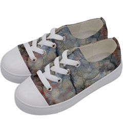 Marbled Structure 5a2 Kids  Low Top Canvas Sneakers by MoreColorsinLife