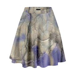 Marbled Structure 5b2 High Waist Skirt by MoreColorsinLife