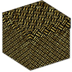 Woven2 Black Marble & Gold Foil Storage Stool 12   by trendistuff