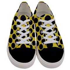 Circles2 Black Marble & Gold Glitter (r) Women s Low Top Canvas Sneakers