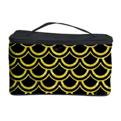 Scales2 Black Marble & Gold Glitterscales2 Black Marble & Gold Glitter Cosmetic Storage Case by trendistuff