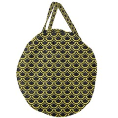 Scales2 Black Marble & Gold Glitterscales2 Black Marble & Gold Glitter Giant Round Zipper Tote