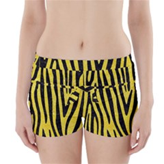 Skin4 Black Marble & Gold Glitter Boyleg Bikini Wrap Bottoms