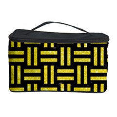 Woven1 Black Marble & Gold Glitter Cosmetic Storage Case