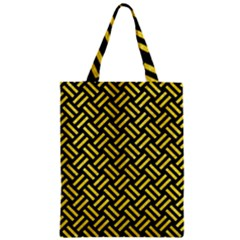Woven2 Black Marble & Gold Glitter Zipper Classic Tote Bag by trendistuff