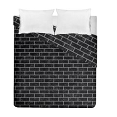Brick1 Black Marble & Gray Colored Pencil Duvet Cover Double Side (full/ Double Size) by trendistuff