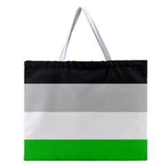 And Stripes Zipper Large Tote Bag by AllOverIt