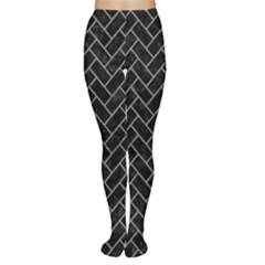Brick2 Black Marble & Gray Colored Pencilbrick2 Black Marble & Gray Colored Pencil Women s Tights by trendistuff