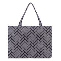 Brick2 Black Marble & Gray Colored Pencil (r) Medium Tote Bag by trendistuff