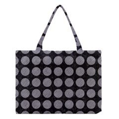 Circles1 Black Marble & Gray Colored Pencilcircle1 Black Marble & Gray Colored Pencil Medium Tote Bag by trendistuff