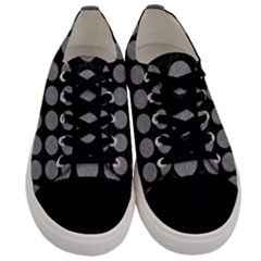 Circles1 Black Marble & Gray Colored Pencilcircle1 Black Marble & Gray Colored Pencil Men s Low Top Canvas Sneakers