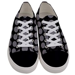 Circles1 Black Marble & Gray Colored Pencilcircle1 Black Marble & Gray Colored Pencil Women s Low Top Canvas Sneakers