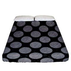 Circles2 Black Marble & Gray Colored Pencil Fitted Sheet (queen Size) by trendistuff