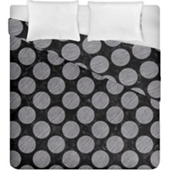 Circles2 Black Marble & Gray Colored Pencil Duvet Cover Double Side (king Size) by trendistuff