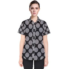 Circles2 Black Marble & Gray Colored Pencil Women s Short Sleeve Shirt