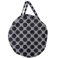 Circles2 Black Marble & Gray Colored Pencil (r) Giant Round Zipper Tote