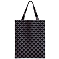 Circles3 Black Marble & Gray Colored Pencil Zipper Classic Tote Bag by trendistuff