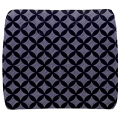 Circles3 Black Marble & Gray Colored Pencil (r) Back Support Cushion
