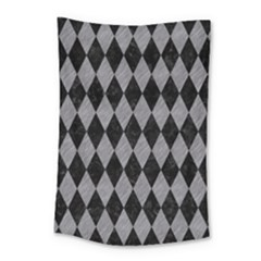Diamond1 Black Marble & Gray Colored Pencil Small Tapestry by trendistuff
