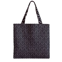 Hexagon1 Black Marble & Gray Colored Pencil (r) Zipper Grocery Tote Bag by trendistuff