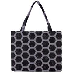 Hexagon2 Black Marble & Gray Colored Pencil Mini Tote Bag by trendistuff