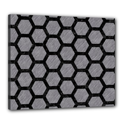 Hexagon2 Black Marble & Gray Colored Pencil (r) Canvas 24  X 20  by trendistuff