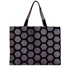 Hexagon2 Black Marble & Gray Colored Pencil (r) Zipper Mini Tote Bag by trendistuff
