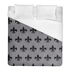 Royal1 Black Marble & Gray Colored Pencil Duvet Cover (full/ Double Size) by trendistuff