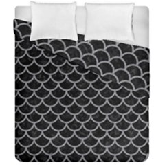 Scales1 Black Marble & Gray Colored Pencil Duvet Cover Double Side (california King Size) by trendistuff