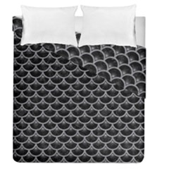 Scales3 Black Marble & Gray Colored Pencil Duvet Cover Double Side (queen Size) by trendistuff