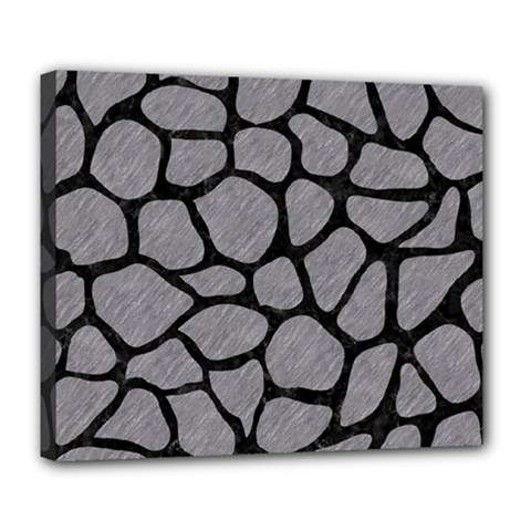 Skin1 Black Marble & Gray Colored Pencil Deluxe Canvas 24  X 20   by trendistuff