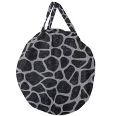 Skin1 Black Marble & Gray Colored Pencil (r) Giant Round Zipper Tote
