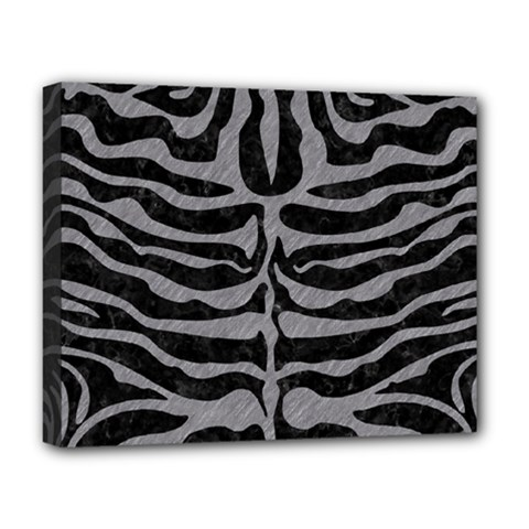 Skin2 Black Marble & Gray Colored Pencil Deluxe Canvas 20  X 16   by trendistuff