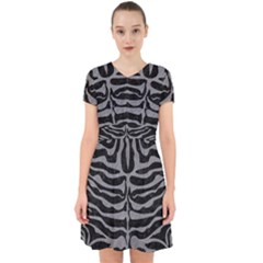 Skin2 Black Marble & Gray Colored Pencil Adorable In Chiffon Dress