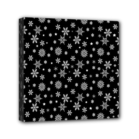 Xmas Pattern Mini Canvas 6  X 6  by Valentinaart