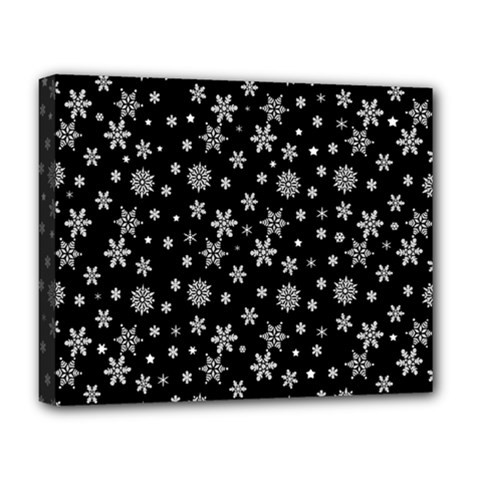 Xmas Pattern Deluxe Canvas 20  X 16   by Valentinaart