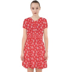 Xmas Pattern Adorable In Chiffon Dress