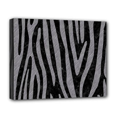 Skin4 Black Marble & Gray Colored Pencil (r) Deluxe Canvas 20  X 16   by trendistuff