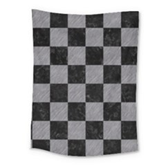 Square1 Black Marble & Gray Colored Pencil Medium Tapestry by trendistuff