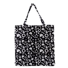 Xmas Pattern Grocery Tote Bag by Valentinaart
