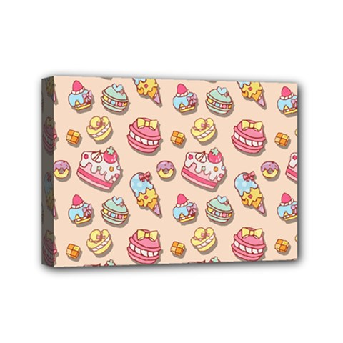 Sweet Pattern Mini Canvas 7  X 5  by Valentinaart