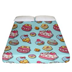 Sweet Pattern Fitted Sheet (queen Size) by Valentinaart
