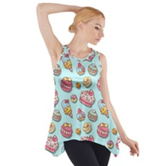 Sweet Pattern Side Drop Tank Tunic by Valentinaart