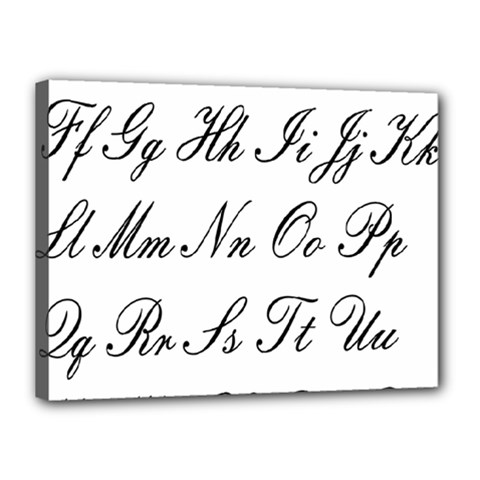 Alphabet Embassy Font Canvas 16  X 12  by Mariart