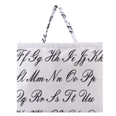 Alphabet Embassy Font Zipper Large Tote Bag by Mariart