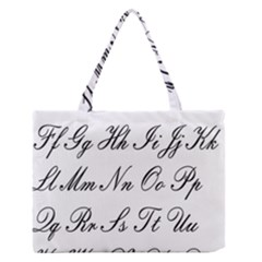 Alphabet Embassy Font Zipper Medium Tote Bag by Mariart